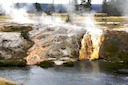 Hot spring emptying into Firehole River