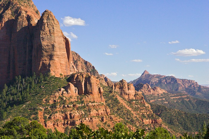 Timber Top Mountain in the Kolob Canyons